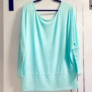 Lucy  Mint Green Large Long Sleeved T Shirt NWOT